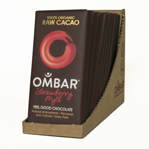 Organic Strawberries & Cream Raw Chocolate Bars 10 x 35g
