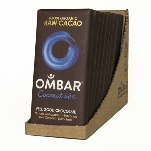 Organic 60% Raw Coconut Chocolate Bars 10 x 35g