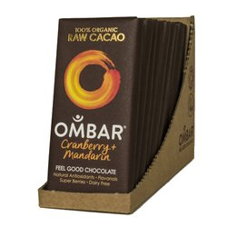 Organic Cranberry & Mandarin Raw Chocolate Bars 10 x 35g