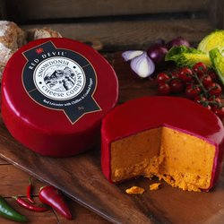 'Red Devil' Red Leicester Cheese with Chilli 2kg by Snowdonia Cheese Company