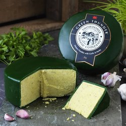 'Green Thunder' Mature Cheddar Cheese with Garlic & Herbs 2kg by Snowdonia Cheese Company