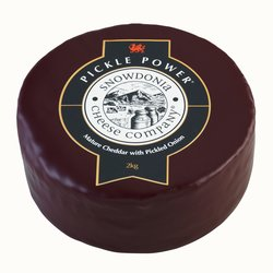 'Pickle Power' Mature Cheddar Cheese with Pickled Onions 2kg by Snowdonia Cheese Company