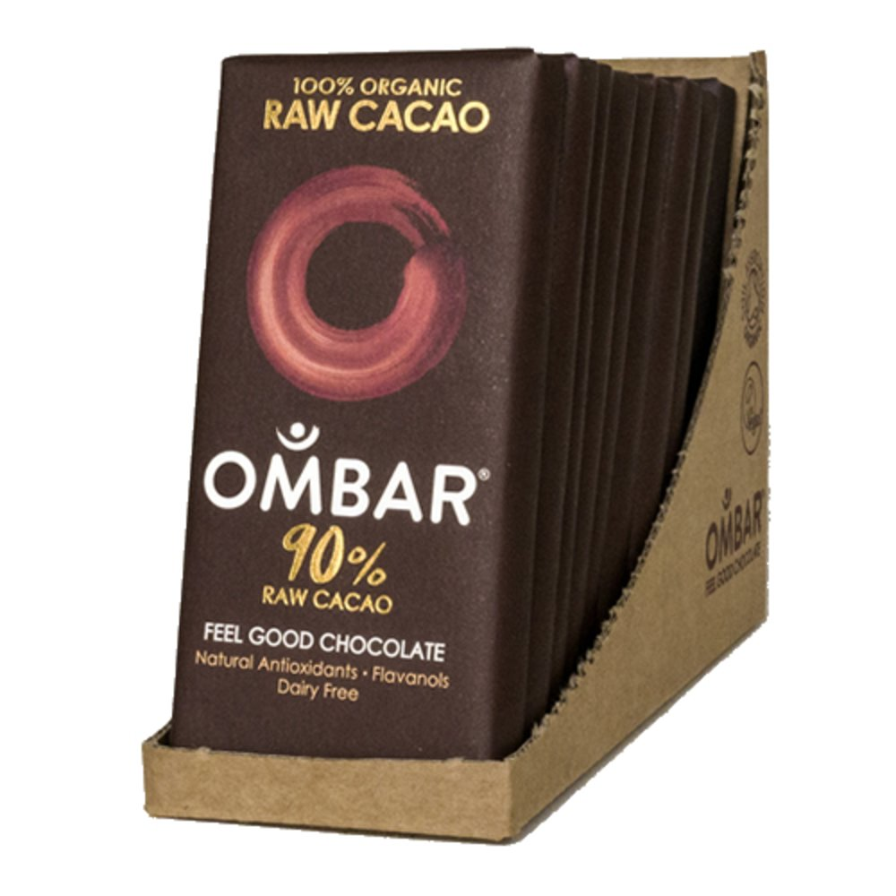 Organic 90 Raw Chocolate Bars 10 X 35g