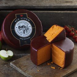 'Red Storm' Red Leicester Cheese 2kg by Snowdonia Cheese Company