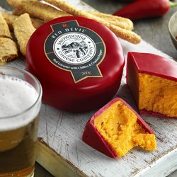 'Red Devil' Red Leicester Cheese with Chilli 200g by Snowdonia Cheese Company