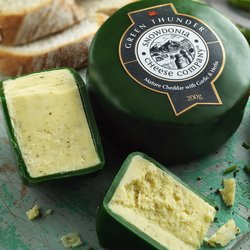'Green Thunder' Mature Cheddar Cheese with Garlic & Herbs 200g by Snowdonia Cheese Company