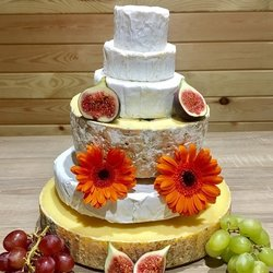 Cheese Cake Tower with St Thomas Goat's, Camembert, Blue, Brie & Farmhouse Cheddar Cheese (For Weddings & Parties)