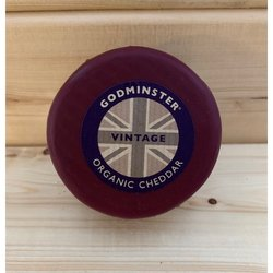 Organic Vintage Cheddar Cheese Truckle 200g by Godminster