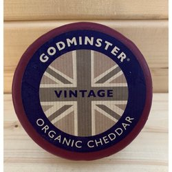 Organic Vintage Cheddar Cheese Truckle 400g by Godminster