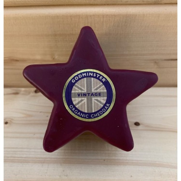 Star Shaped Organic Vintage Cheddar Cheese 200g by Godminster