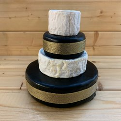 Mini Cheese Cake Tower with St Thomas Goat's, Snowdonia Black Bomber Cheddar & Camembert (For Weddings & Parties)