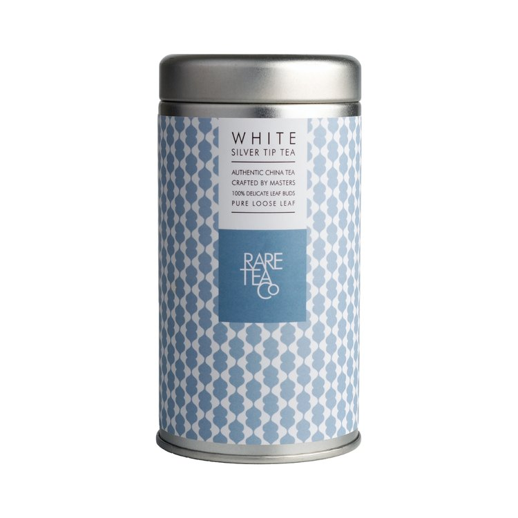 White Silver Tip Tea Tin 25g