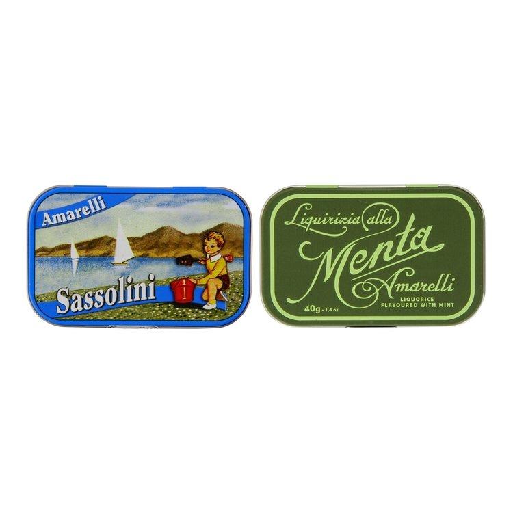 Sassolini Aniseed & Favette Mint Italian Liquorice 2 x 40g