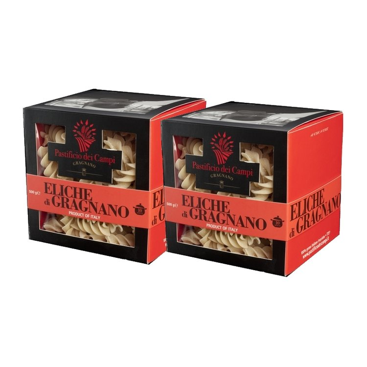 Eliche di Gragnano Pasta 2 x 500g (Get 1 Extra Free!)