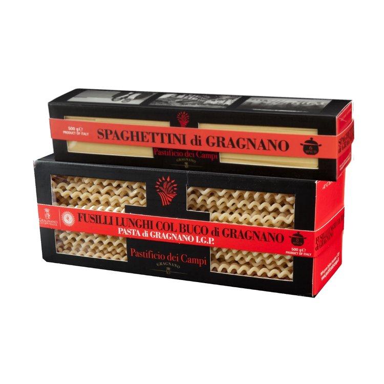 Fusilli Lunghi & Spaghettini Pasta di Gragnano 2 x 500g
