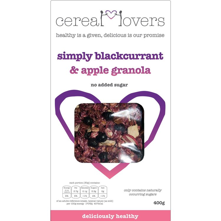 Blackcurrant & Apple Granola 4 x 400g