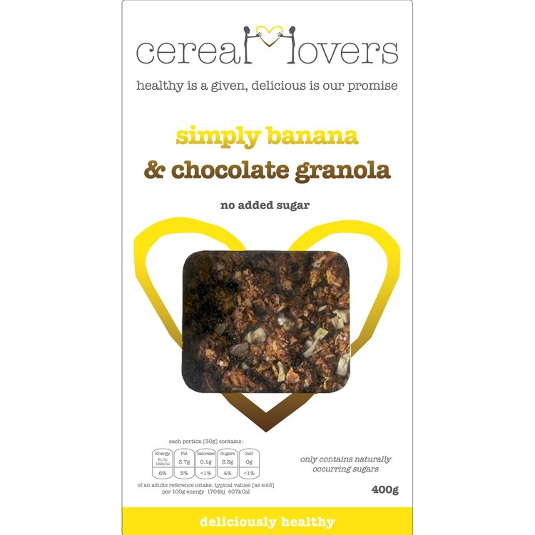 Simply Banana & Chocolate Granola 4 x 400g