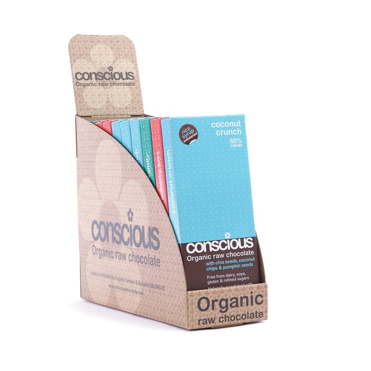 Exclusive Organic Mixed Chocolate Bar Box 10 x 50g