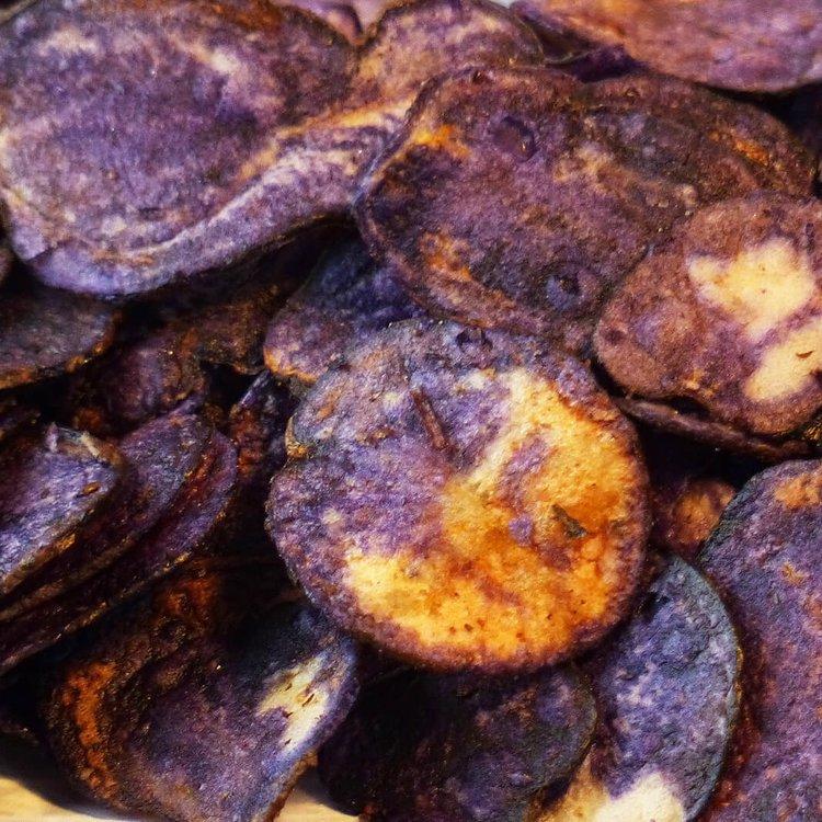 Vitelotte Potato Crisps 100g