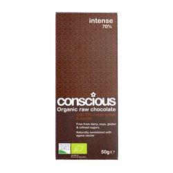 3 x Intense Organic 70% Raw Chocolate Bar 50g