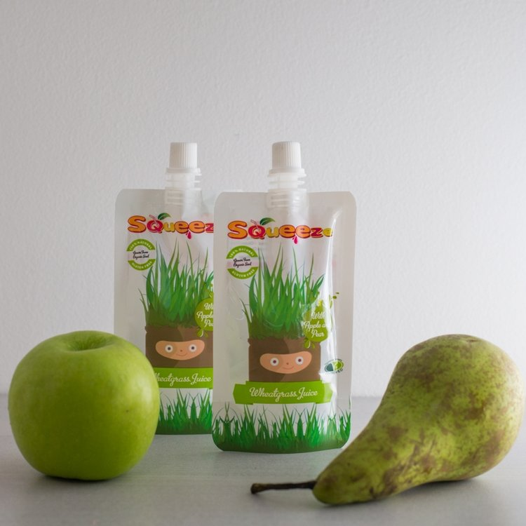 Wheatgrass Shots with Apple & Pear 14 x 60ml (Get 1 Extra Pack Free!)