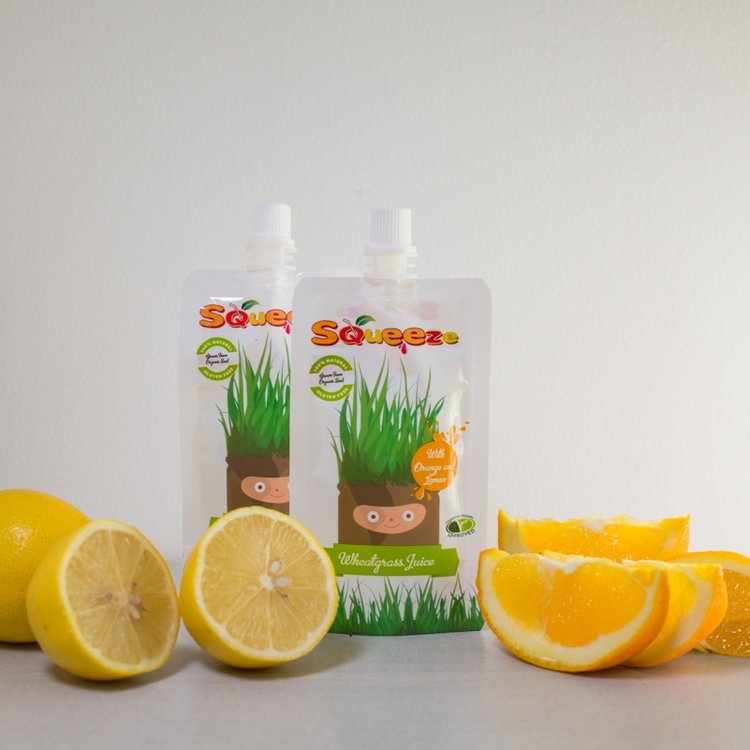 Wheatgrass Shots with Orange & Lemon 14 x 60ml (Get 1 Pack Free!)