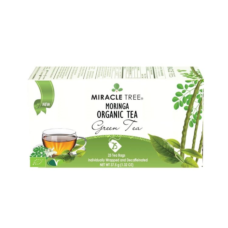 Organic Green Moringa Decaffeinated Tea 25 Tea Bags