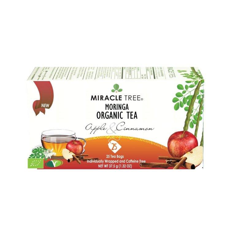 Organic Apple & Cinnamon Moringa Caffeine Free Tea 25 Tea Bags