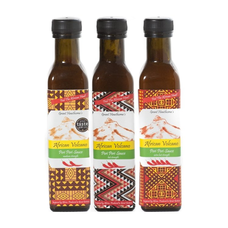 Peri Peri Sauce Set - Extra Hot, Hot & Medium 3 x 240ml