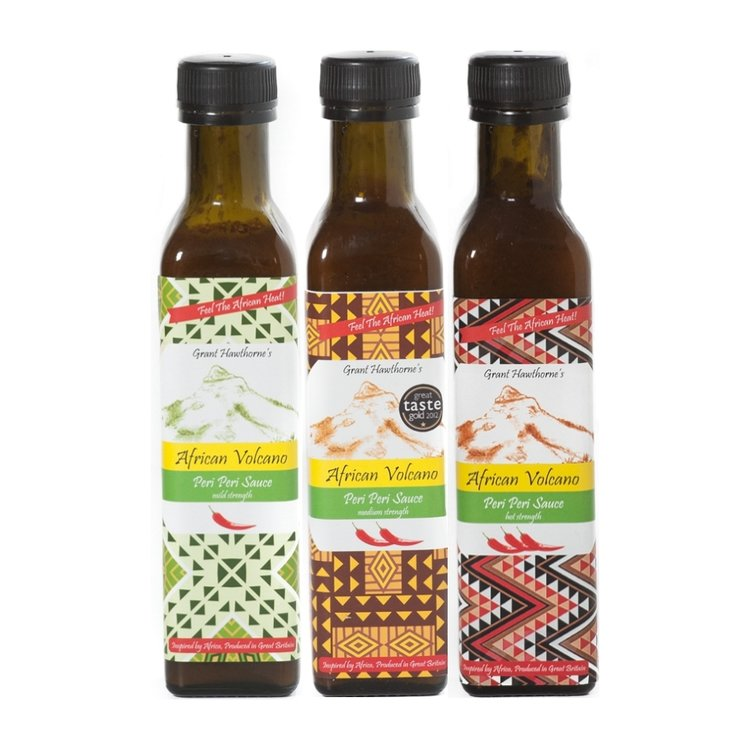 Peri Peri Sauce Set - Hot, Medium & Mild 3 x 240ml