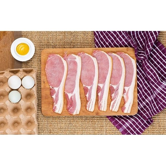 Unsmoked Bacon 2 x 1kg (Get 1 Extra Free!)