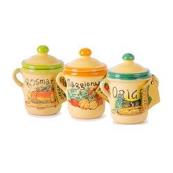 Italian Herb Gift Set Terracotta Pots 3 x 5g (Marjoram, Oregano, Rosemary)