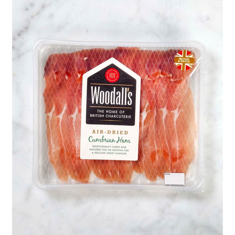 Air-Dried Cumbrian Ham Slices 70g