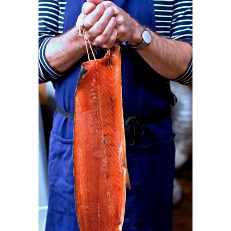 Whole Side Cold Smoked Salmon - Trimmed 1kg