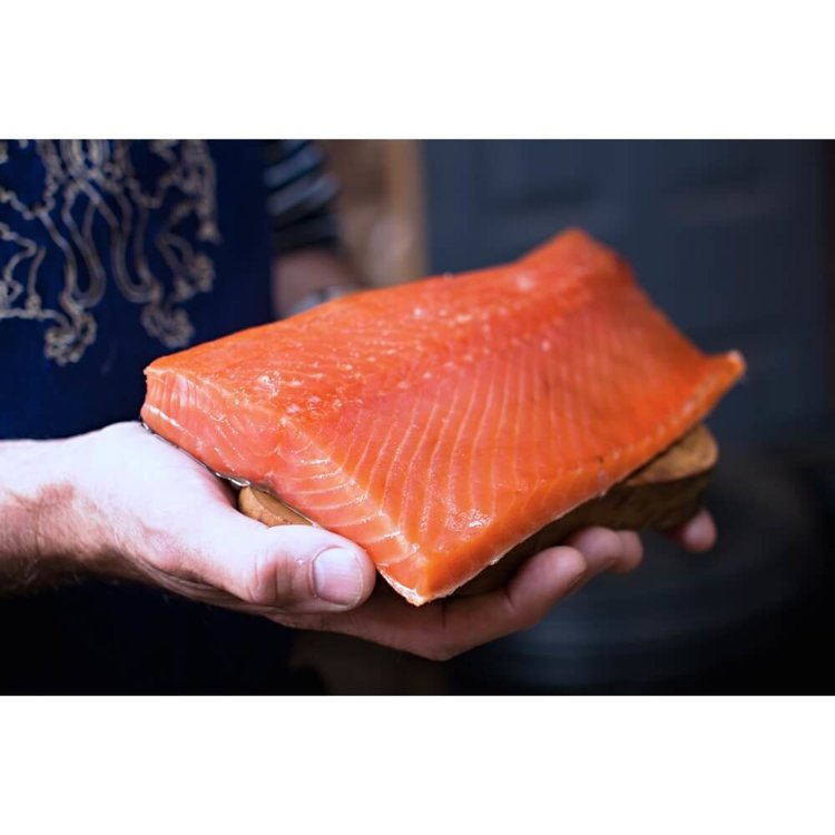 Half Side Cold Smoked Salmon - Trimmed 500g (Neck & Belly)