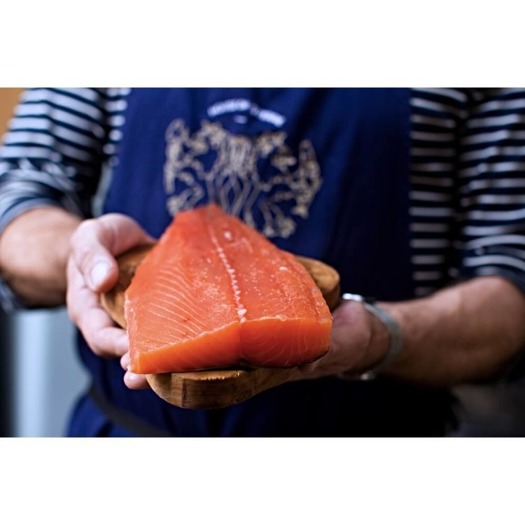 Half Side Cold Smoked Salmon - Trimmed 500g (Tail & Belly)