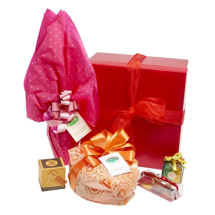 Italian Easter Gifts Hamper Inc. Chocolate and Colomba Easter Cake