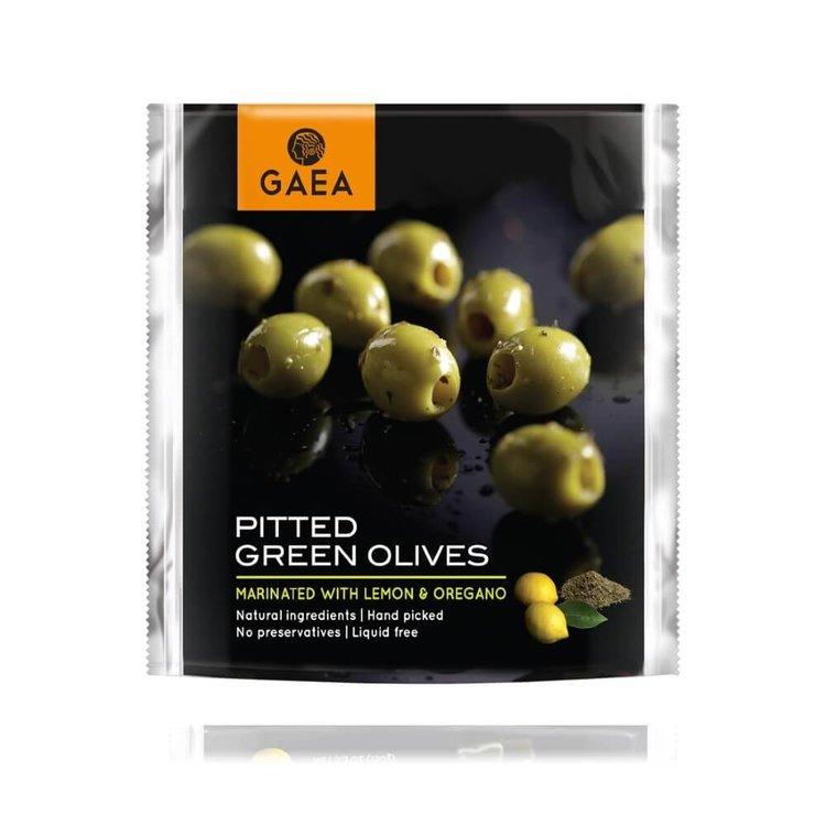 Pitted Green Olives Marinated with Lemon & Oregano 150g