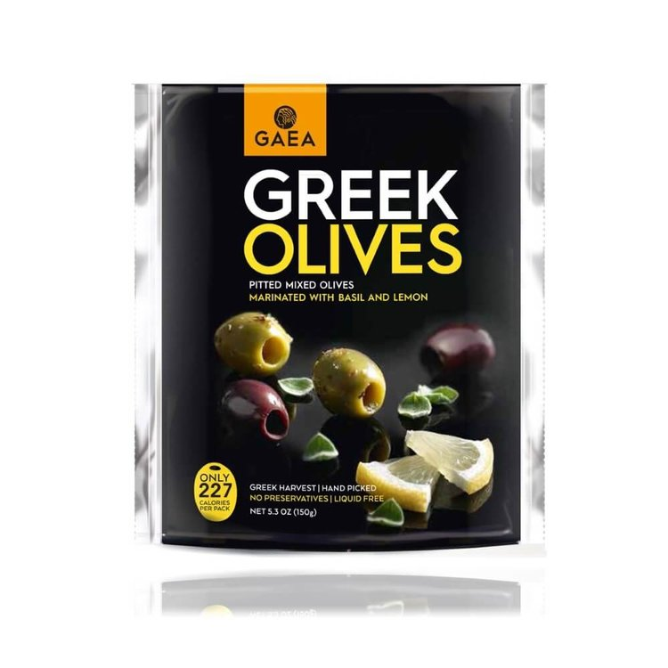 Mixed Pitted Greek Olives Marinated with Basil & Lemon 150g
