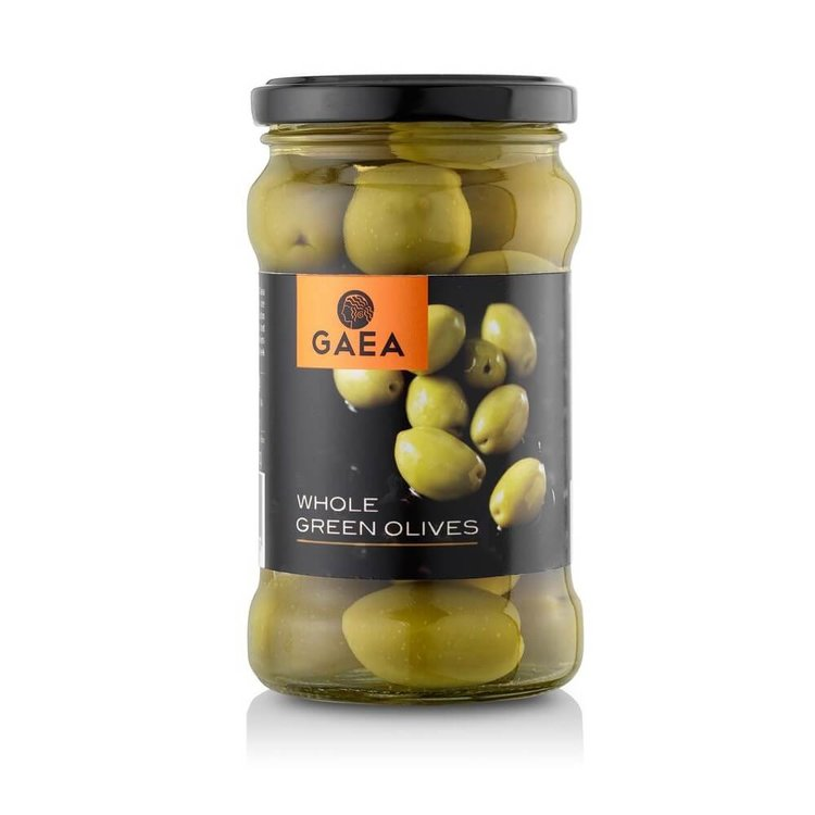 Whole Halkidiki Green Olives 300g
