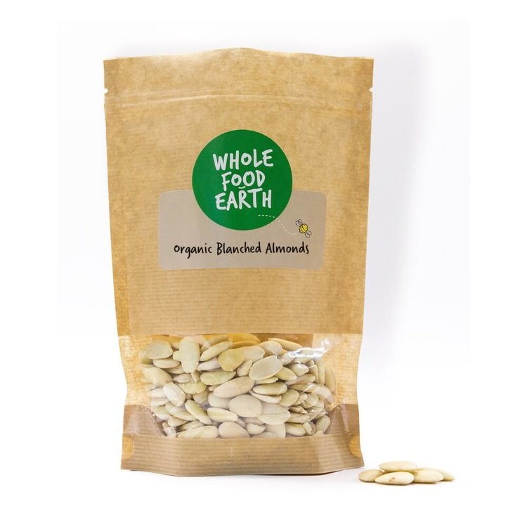 Organic Blanched Almonds 100g