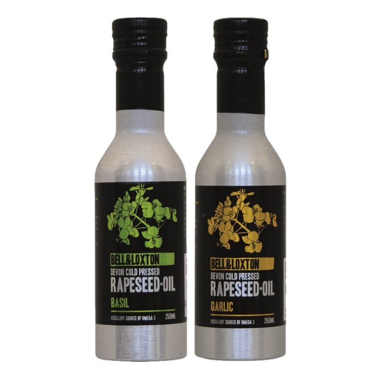 Basil & Garlic Rapeseed Oil Set 2 x 250ml