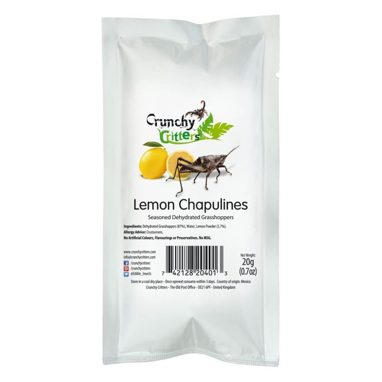 Lemon Edible Grasshoppers (Chapulines) 20g