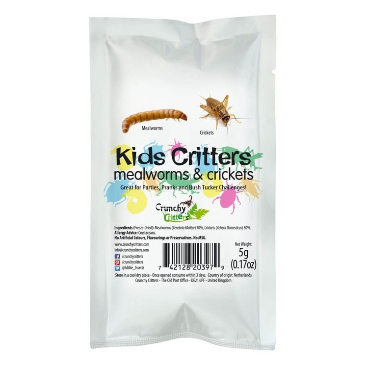 Kids Edible Mealworms & Crickets 5g