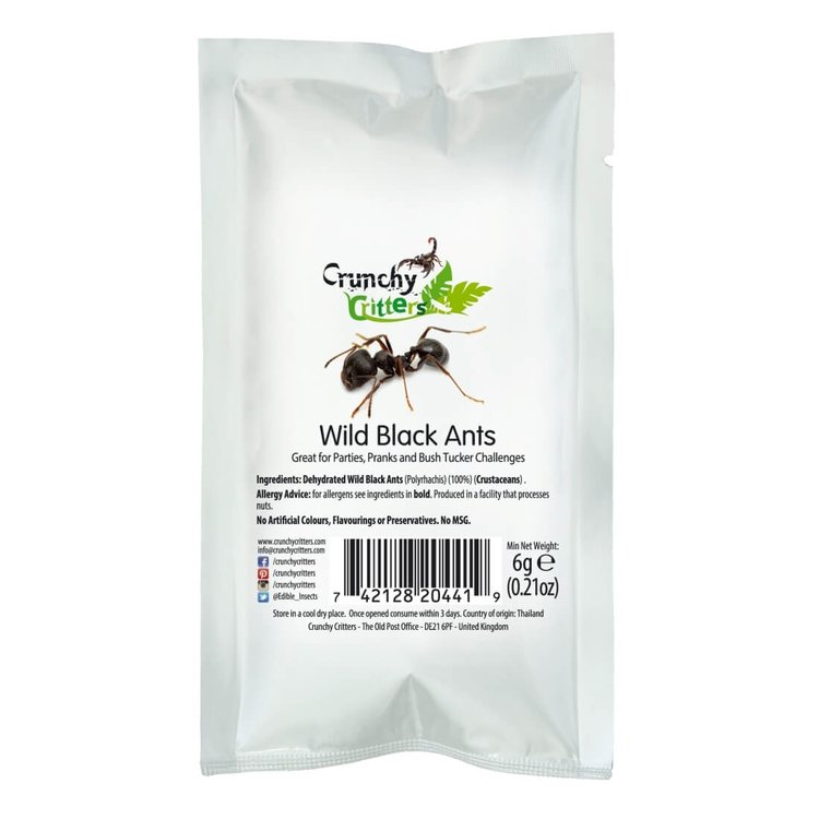 Edible Wild Black Ants 6g