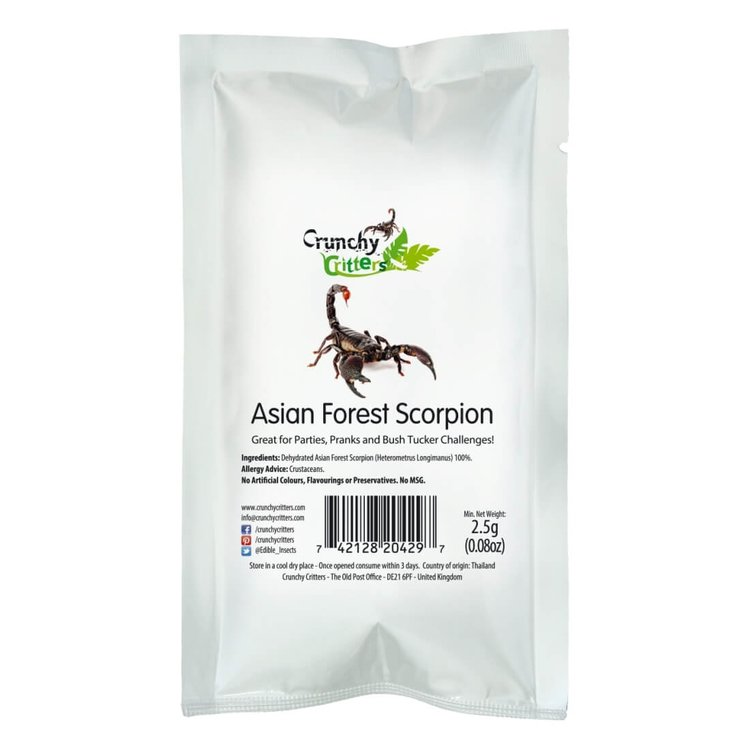 Edible Asian Forest Scorpion 2.5g