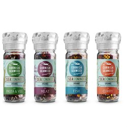 Organic Cornish Seaweed Seasoning Blend Set (For Fish, Meat, Pasta & Curry) 4 x 30g