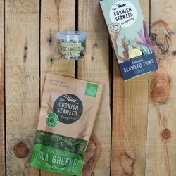 'Seaweed All Rounder' Gift Set Inc. Sea Greens Seaweed, Seaweed Thins Crackers & Cornish Seaweed Salt