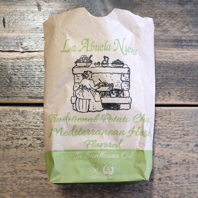Mediterranean Herb Flavoured Potato Crisps with Thyme, Basil, & Rosemary 150g