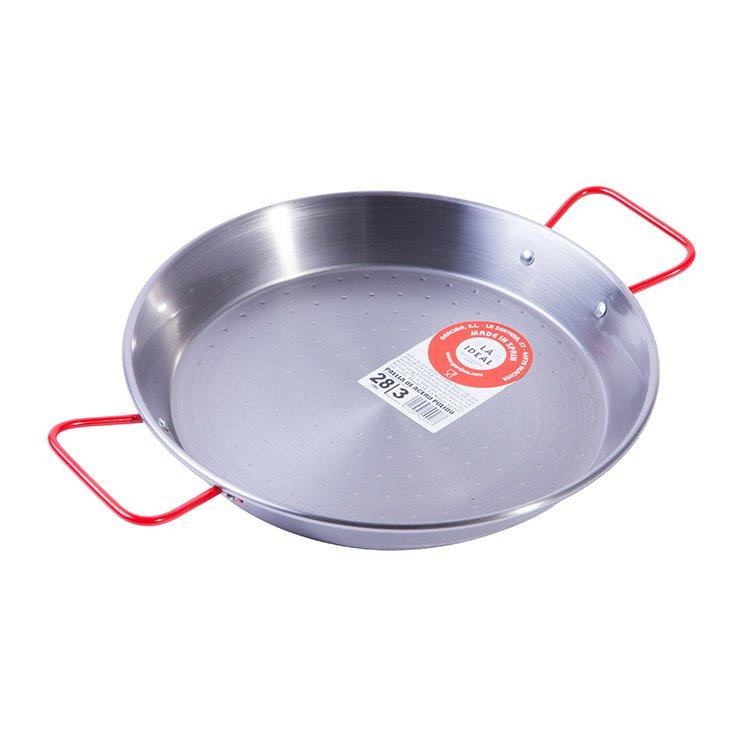 3 Portion Polished Steel Spanish Paella Pan